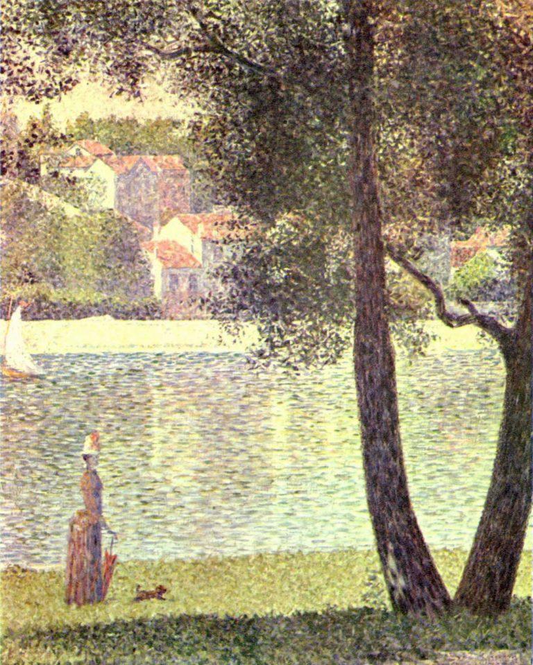 Die Seine bei Courbevoie   Georges Seurat   oil painting
