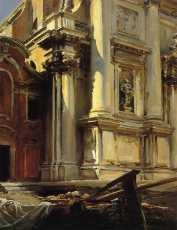 Corner of the Church of St Stae Venice | John Singer Sargent | oil painting
