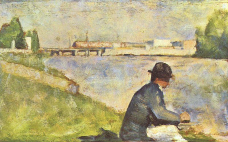 Sitzender Mann | Georges Seurat | oil painting
