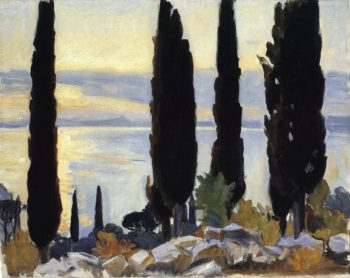 Cypress Trees at San Vigilio | John Singer Sargent | oil painting