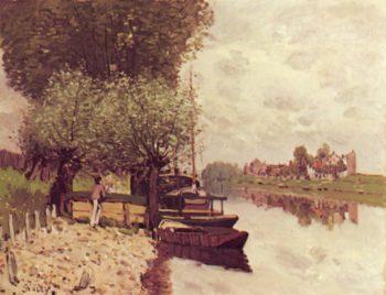 Die Seine bei Bougival | Alfred Sisley | oil painting