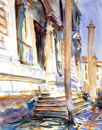 Doorway of a Venetian Palace | John Singer Sargent | oil painting
