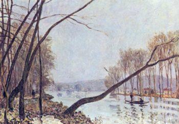 Ufer der Seine im Herbst | Alfred Sisley | oil painting