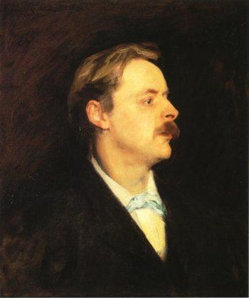 Edmond Gosse | John Singer Sargent | oil painting