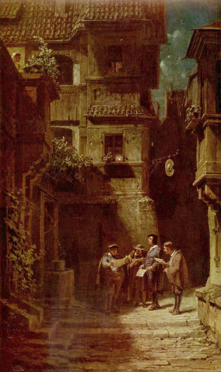 Das St?ndchen | Carl Spitzweg | oil painting