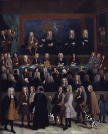 The Court of Chancery during the reign of George I | Benjamin Ferrers | oil painting