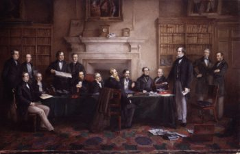 The Derby Cabinet of 1867 | Henry Gales | oil painting