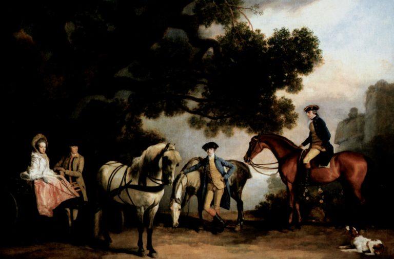 Die Familien Milbanke und Melbourne | George Stubbs | oil painting