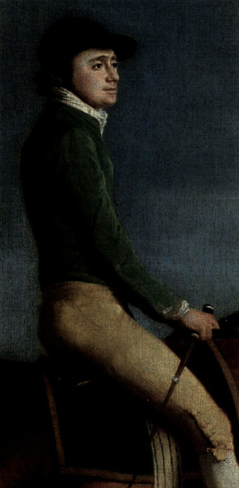 Portr?t des Jockeys John Larkin