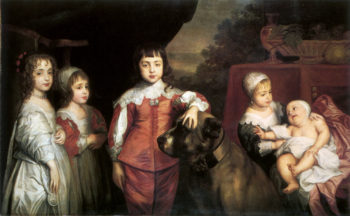The five children of Charles I after Van Dyck | Unknown Artist | oil painting
