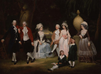The Fourdrinier Family   John Downman   oil painting