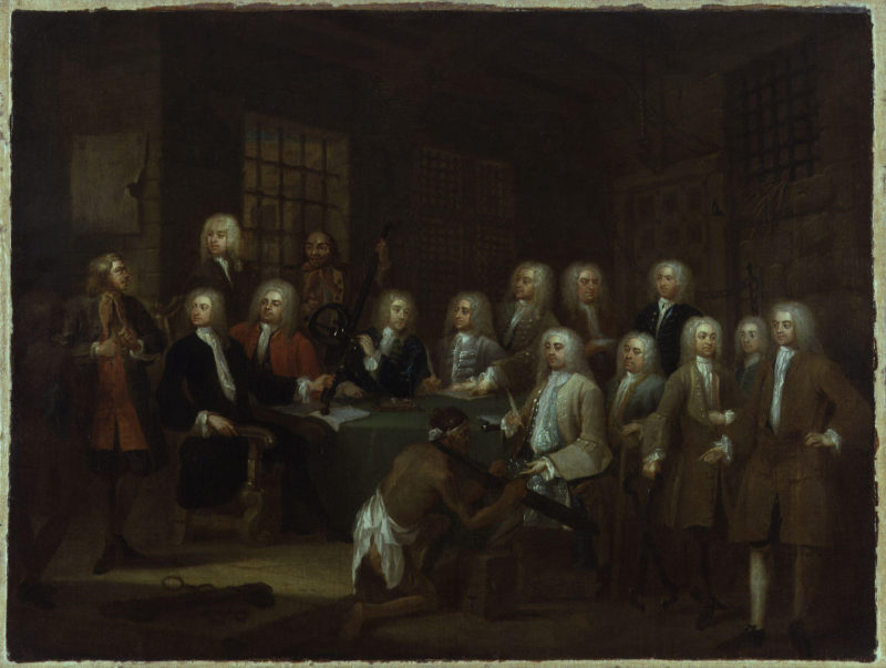 The Gaols Committee of the House of Commons   William Hogarth   oil painting