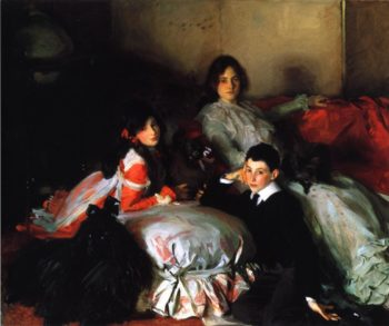 Essie Ruby and Ferdinand Children of Asher Wertheimer | John Singer Sargent | oil painting