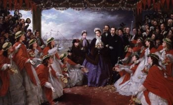 The Landing of HRH The Princess Alexandra at Gravesend 7th March 1863 | Henry Nelson ONeil | oil painting