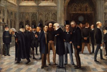 The Lobby of the House of Commons 1886 | Liborio Prosperi Lib | oil painting