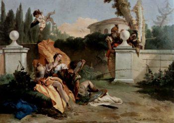 Rinaldo und Armida werden von Ubaldo und Carlo ?berrascht | Giovanni Battista Tiepolo | oil painting