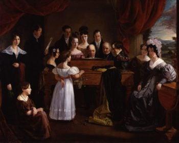 The Novello Family   Edward Petre Novello   oil painting