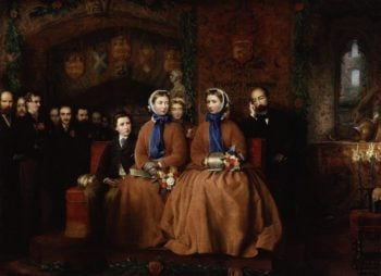 The Opening of the Royal Albert Infirmary at Bishops Waltham 1865 | Unknown Artist | oil painting