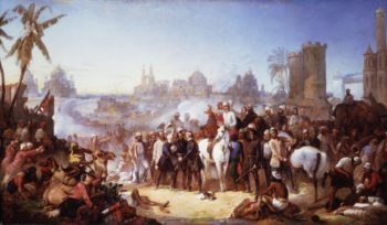 The Relief of Lucknow 1857   Thomas Jones Barker   oil painting