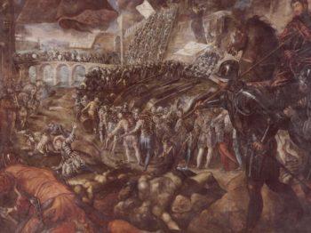 Federico II Gonzaga erobert Parma. | Jacopo Tintoretto | oil painting