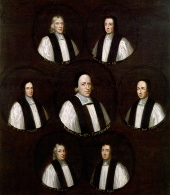 The Seven Bishops committed to the Tower in 1688 | Unknown Artist | oil painting