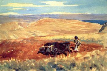 Hills of Galilee | John Singer Sargent | oil painting