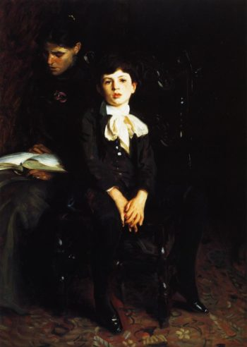 Homer Saint Gaudens and His Mother | John Singer Sargent | oil painting