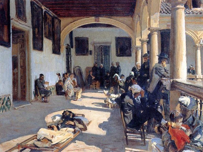 Hospital at Granada | John Singer Sargent | oil painting