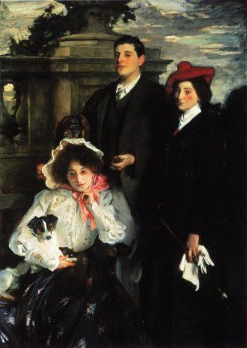 Hylda Almina and Conway Children of Asher Wertheimer | John Singer Sargent | oil painting