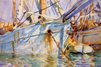 In a Levantine Port | John Singer Sargent | oil painting
