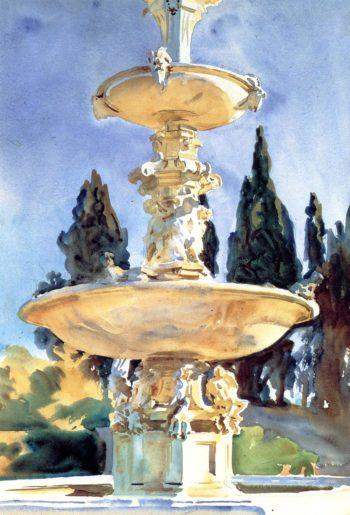 In a Medici Villa | John Singer Sargent | oil painting
