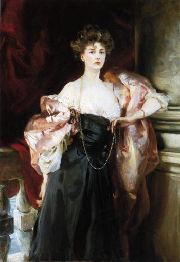 Lady Helen Vincent Viscountess Abernon   John Singer Sargent   oil painting