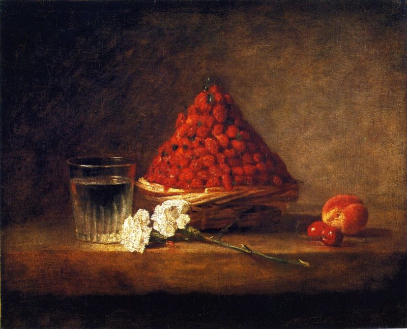 Basket of Strawberries   Jean Baptiste Simeon Chardin   oil painting