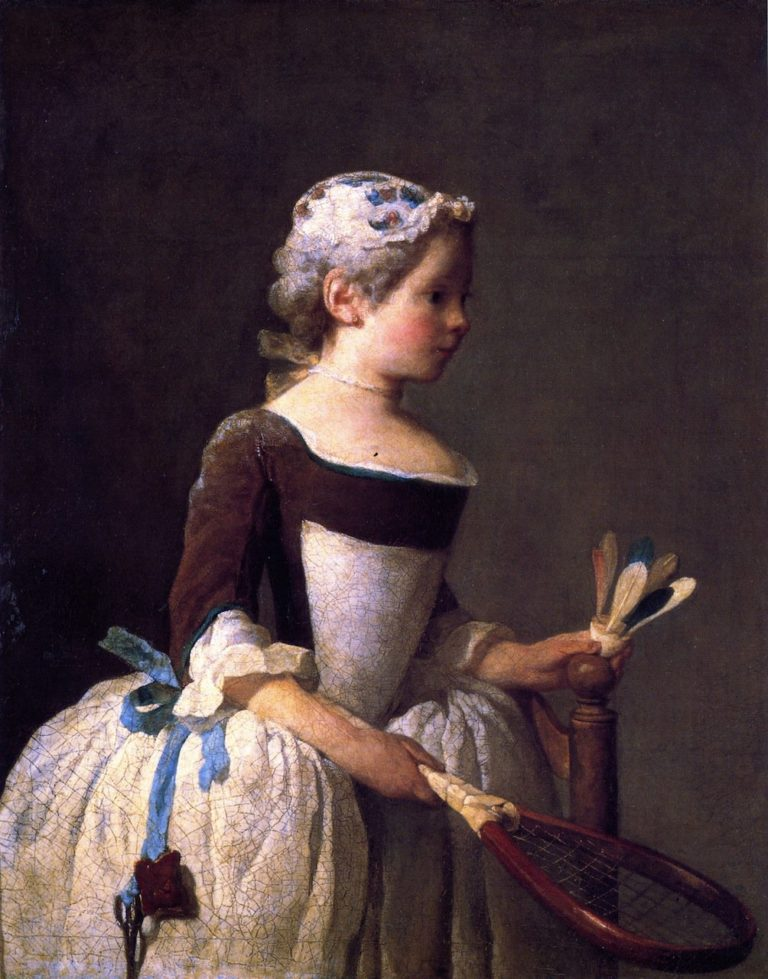 Girl with Shuttlecock | Jean Baptiste Simeon Chardin | oil painting
