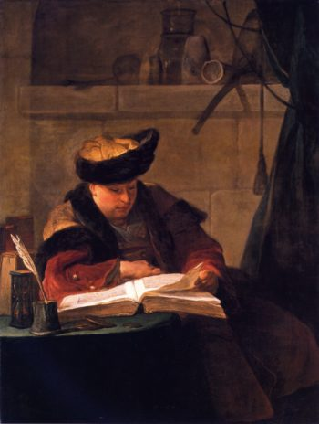 Portrait of the Painter Joseph Aved | Jean Baptiste Simeon Chardin | oil painting