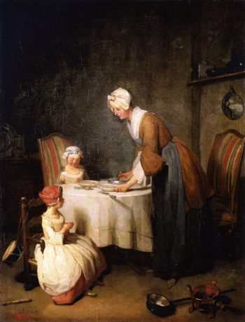 Saying Grace | Jean Baptiste Simeon Chardin | oil painting