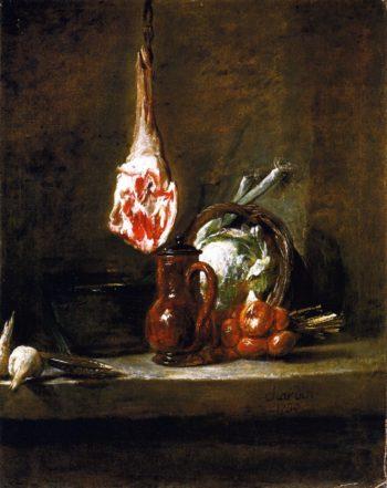 Still LIfe with Leg of Mutton   Jean Baptiste Simeon Chardin   oil painting