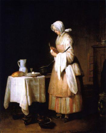 The Attractive Nurse   Jean Baptiste Simeon Chardin   oil painting