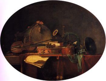 The Attributes of Civilian Music   Jean Baptiste Simeon Chardin   oil painting