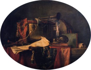 The Attributes of Military Music   Jean Baptiste Simeon Chardin   oil painting