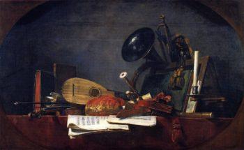 The Attributes of Music   Jean Baptiste Simeon Chardin   oil painting