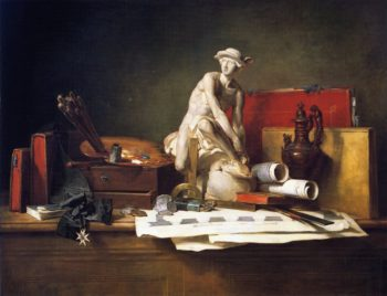 The Attributes of the Arts and Their Rewards   Jean Baptiste Simeon Chardin   oil painting
