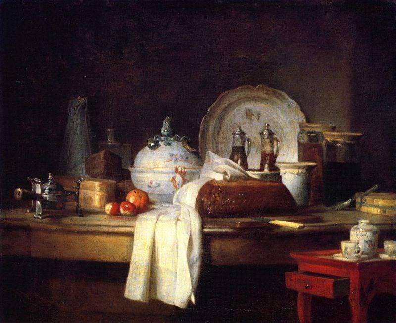 The Butlers Table | Jean Baptiste Simeon Chardin | oil painting