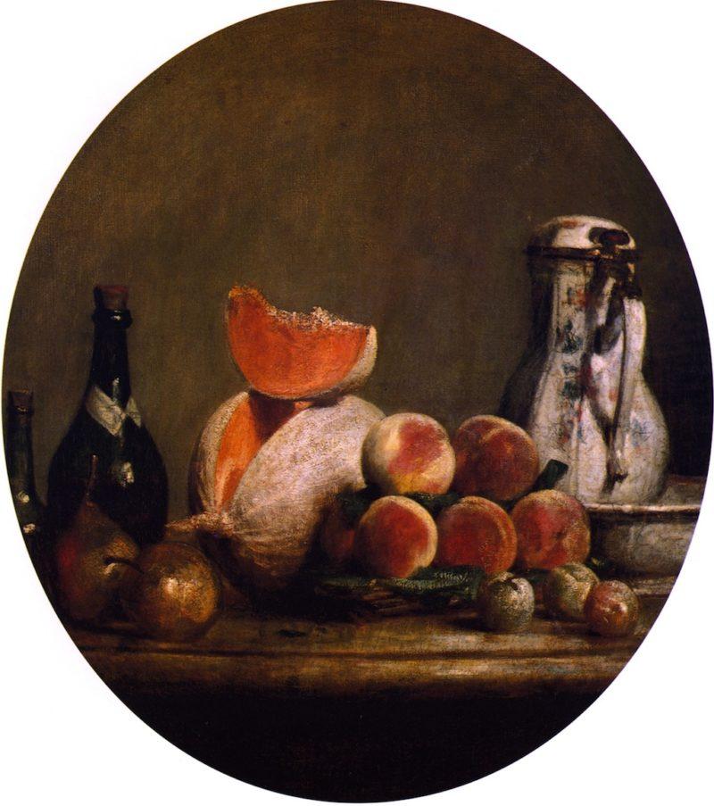 The Cut Melon | Jean Baptiste Simeon Chardin | oil painting