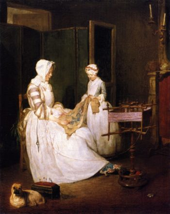 The Diligent Mother | Jean Baptiste Simeon Chardin | oil painting