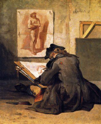 The Draughtsman | Jean Baptiste Simeon Chardin | oil painting