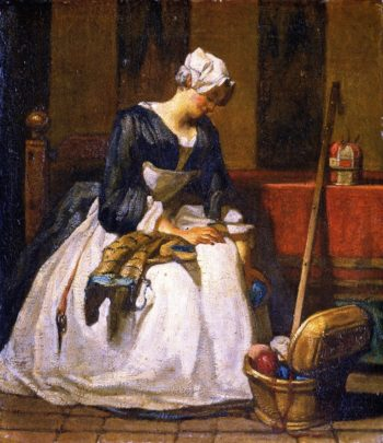 The Embroiderer | Jean Baptiste Simeon Chardin | oil painting