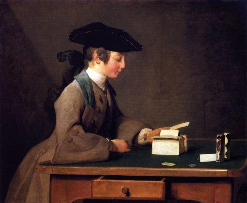 The House of Cards | Jean Baptiste Simeon Chardin | oil painting