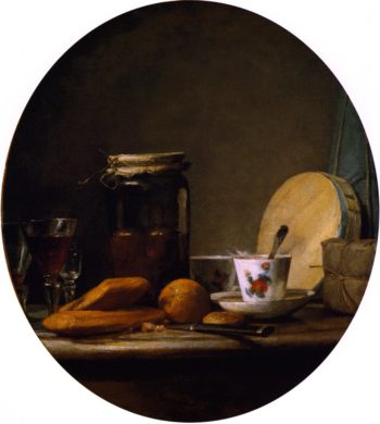 The Jar of Apricots | Jean Baptiste Simeon Chardin | oil painting
