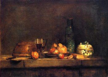 The Jar of Olives | Jean Baptiste Simeon Chardin | oil painting